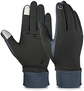 Handcuffs Biking/Cycling Gloves Warm Waterproof Winter Outdoor Gloves Athletic Touch Screen Friendly Gloves Mittens For Men And Women (Grey) Size -L