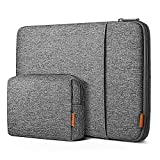 Inateck 12.3-13 Inch Case Sleeve 360° Protection Compatible with MacBook Air 13 2020/2019/2018, MacBook Pro 13 2016-2020, MacBook Air M1, Surface Pro 7/6/X/5/4/3 with Accesory Bag -Gray