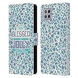 Head Case Designs Accesorios Navidad Bendita Carcasa de Cuero Tipo Libro Compatible con Samsung Galaxy A42 5G (2020)