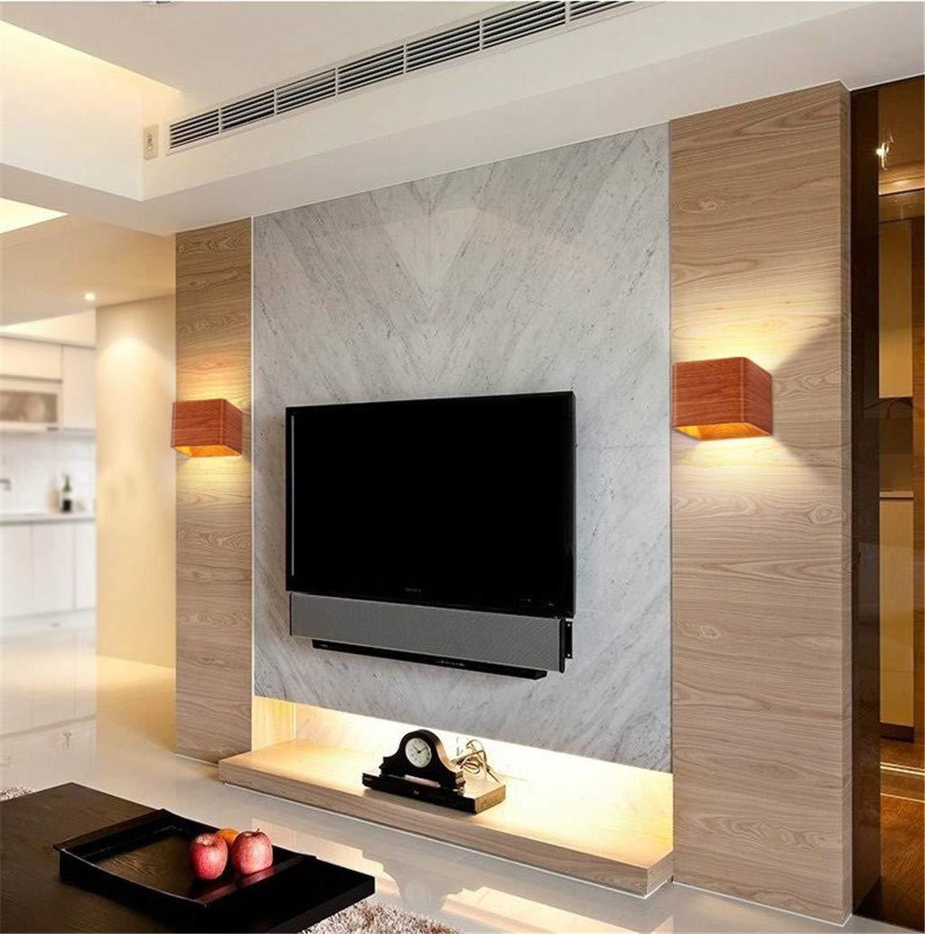 Interior de la pared del cuadrado LED de iluminación luz casera moderna iluminación decorativa mural de la pared decoración de la pared pasillo baño luz de la lámpara ligera de aluminio: Amazon.es: