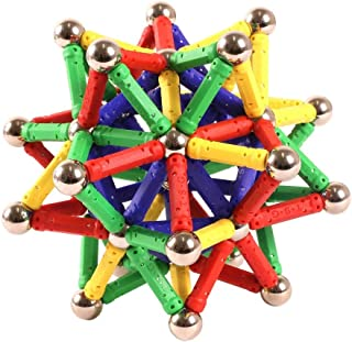 """Magnetic Building Set 96 Piece - 1.06"""" Long Magnet Sticks and Steel Balls - Great Present and Learning Brain Magnet Toy fo..."""