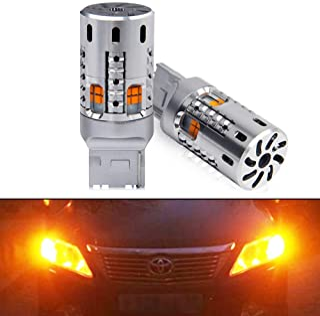 OPP ULITE 7440 Led Bulbs Amber, Error Free Canbus Built In Resistor Turn Signal Light 7444NA T20 7441 WY21W W21W 12V 360 L...