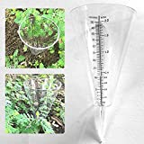LACKINGONE Pluviómetro analógico de plástico para medir el agua de lluvia, jardineros y proyectos escolares.