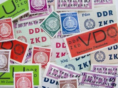 Goldhahn DDR Dienstmarken postfrisch mit Nr. 34-41yA + 34-37yB - Briefmarken ...