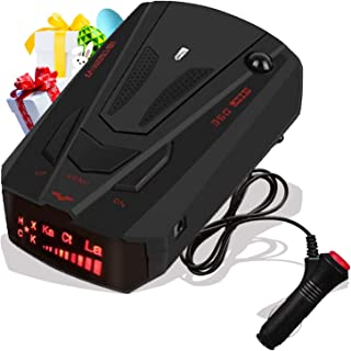 Radar-Detector-for-Cars,Laser Radar Detector Voice Prompt Speed,Vehicle Speed Alarm System,LED Display,City/Highway Mode,A...
