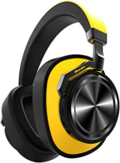 Headphones Alician Bluedio T6 Active Noise Cancelling Headphone Wireless Bluetooth Sports Headset with Mic yellow