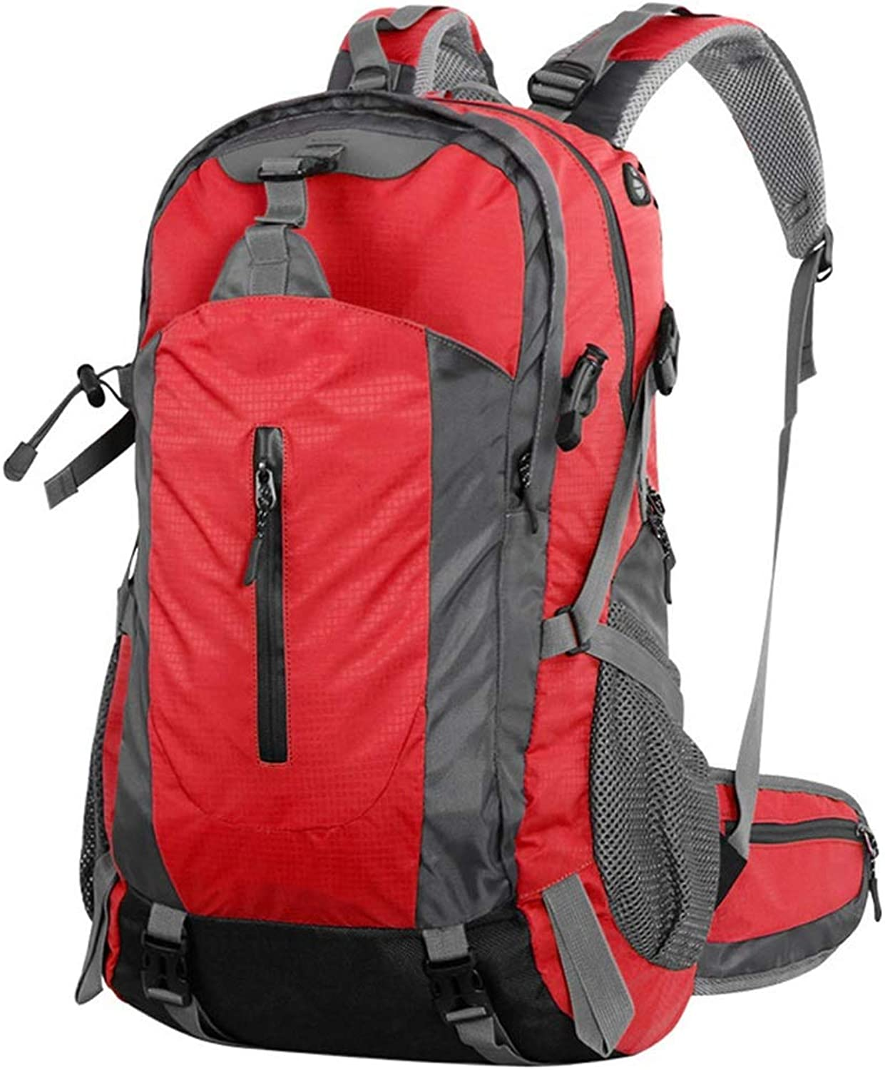 Outdoor Mountaineering Bag 45L Large Capacity Outdoor Backpack Hiking Shoulder Bag Men and Women Outdoor Travel Bag (color   Red)
