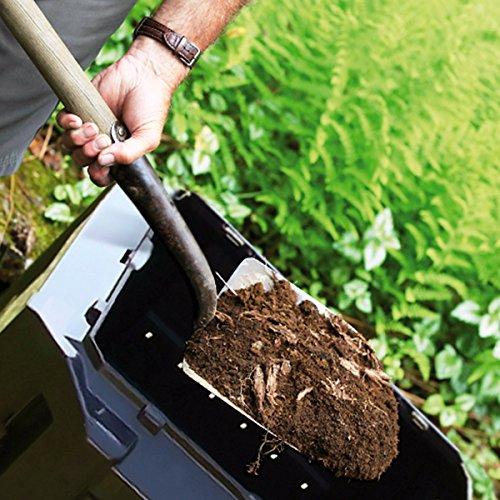 Deuba Black Garden Composter Size Choice 380L 800L 1200L 1600L Compost Converter Composting Unit Eco Friendly Organic Rubbish Waste Home