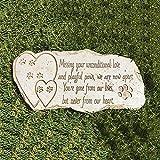 SOBW Pet Memorial Stone Marker Sympathie Harz Verlust des Hundes Tombstone Statue Geschenk|...