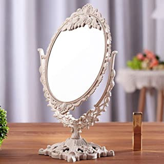 YXZQ Makeup Mirror, Girls Women Vintage Floral Handhold Mirror Princess Elegant Makeup Beauty Tools (Color : Heart)