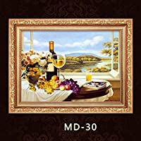 A装飾フレーム装飾画絵画でヨーロッパの装飾画メーターボックスMD30上向きの油圧配布ボックス断面 YANG1MN (Size : 70*50)