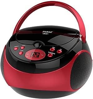 Jaras JJ-Box89 Red/Black Sport Portable Stereo CD Player with AM/FM Stereo Radio and Headphone Jack Plug