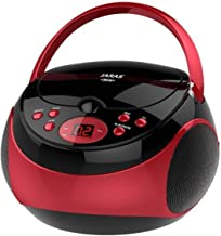 Jaras JJ-Box89 Red/Black Sport Portable Stereo CD Player with AM/FM Stereo Radio and..