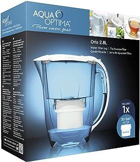 Aqua Optima EJ0630 Oria Water Jug with 1 x Evolve Filter-1 Month Pack, Plastique, White, 11,7 x 25,3 x 24,9 cm