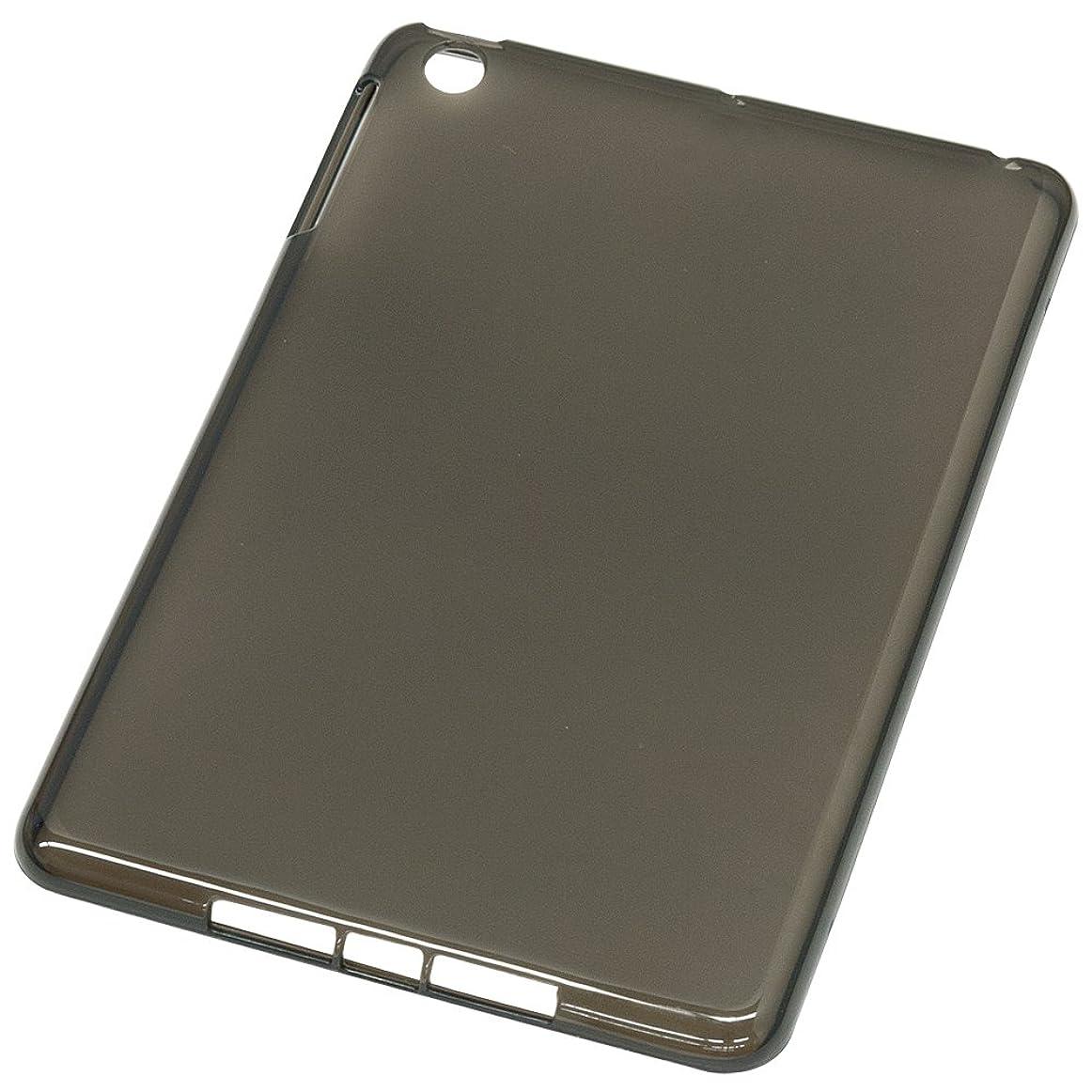 器具講堂連鎖iPad mini用 TPUソフトケース (液晶保護フィルム?クリーナー付) ブラック IPM-12SC01BK
