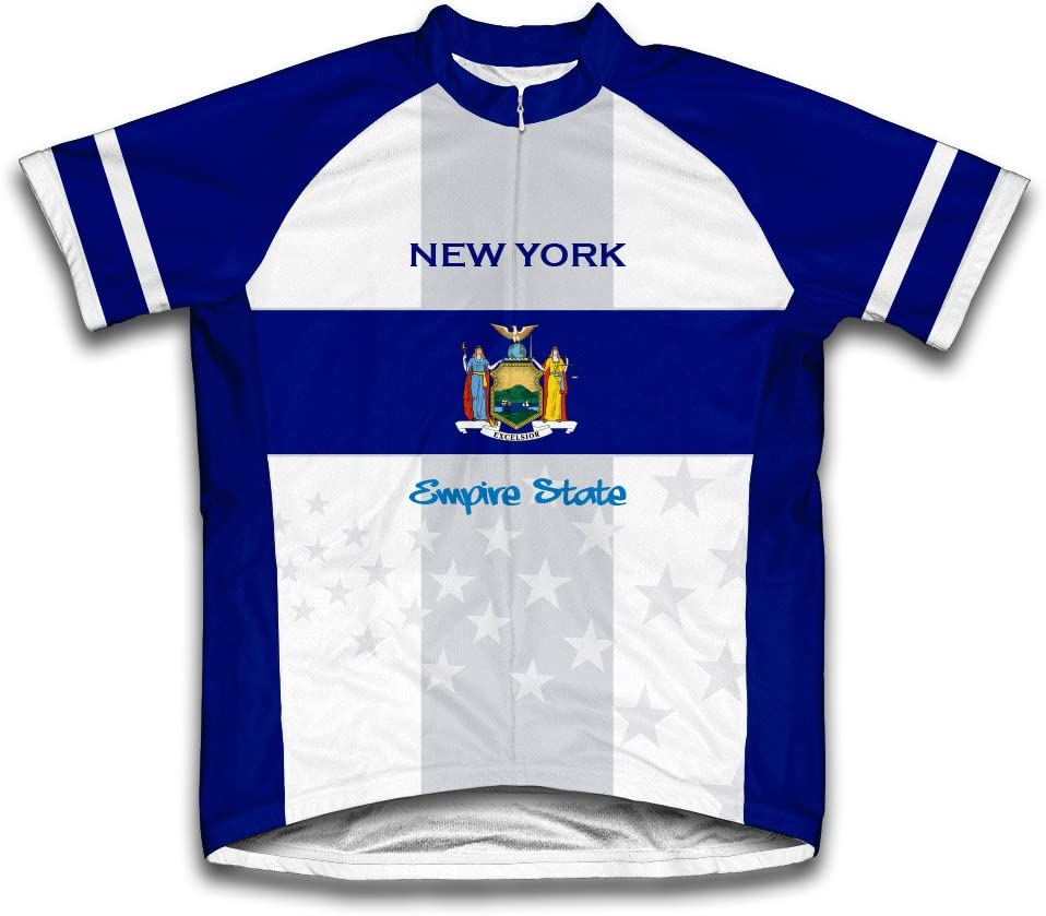 ScudoPro New York color Flag Short Sleeve Cycling Jersey for ! Super beauty product restock quality top! Youth