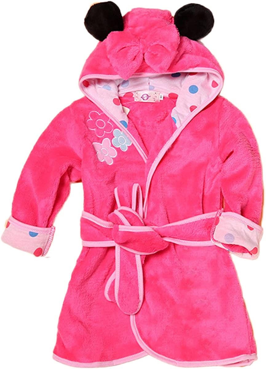Toddler Baby Boys Girls Cartoon Bathrobe Cape Beach Towel Hoodie Robe Night-Robe