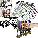 MEOLLO Medallero Colgador de medallas y dorsales (100% Acero) -...