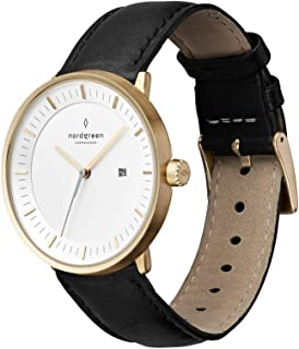 Nordgreen Philosopher Scandinavian Gold Unisex Analog Watch with Strap 10001