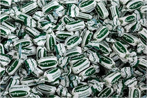Caramelos Eucaliptus La Asturiana - Clásico caramelo de eucalipto, fabricado desde 1941, muy refrescante, en bolsas de 1 kilo, sin gluten
