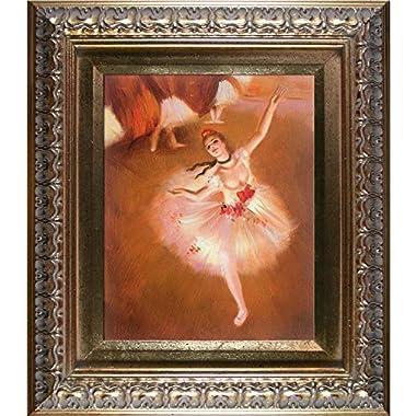 overstockArt Degas Star Dancer on Stage with Elegant Gold Frame Oil Painting, Gold Finish