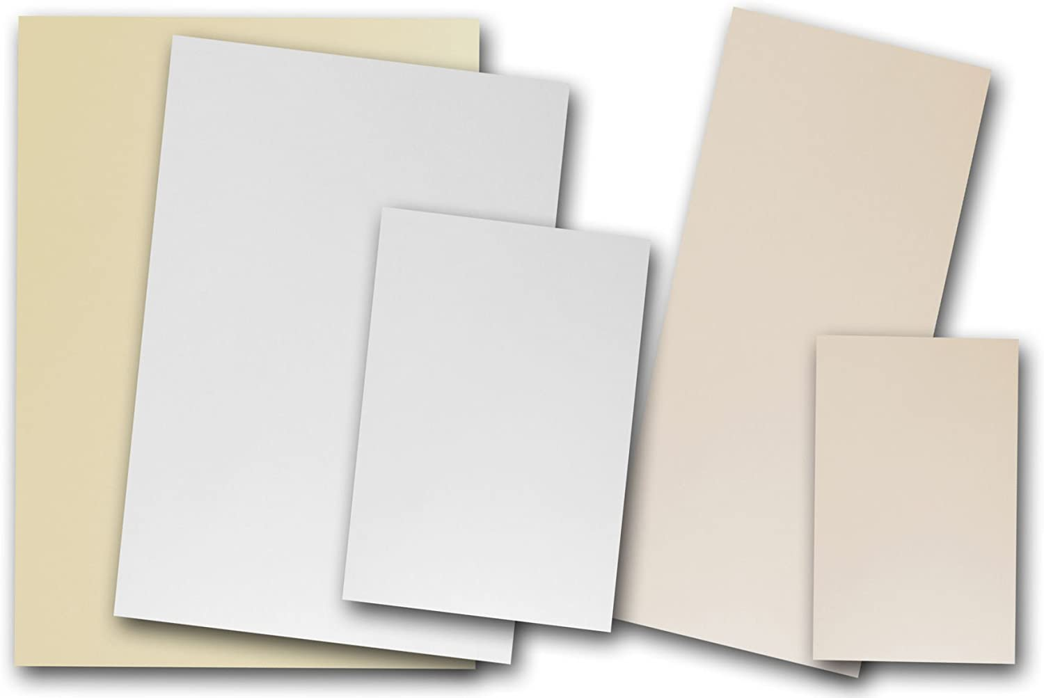 110lb 5 x 5 Flat Card Pack of 150 Natural 100/% Recycled