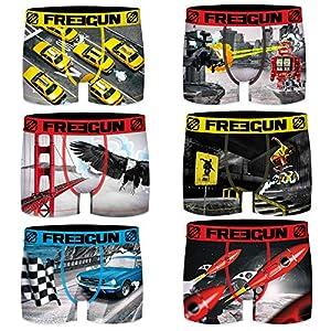 Freegun – Lote de 6 bóxers para niño