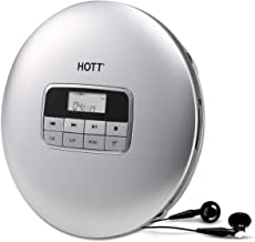 HOTT Portable CD Player, Personal Compact CD Player with Headphones, Anti-Skip/Shockproof..