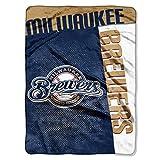 NORTHWEST MLB Milwaukee Brewers Raschel Throw Blanket, 60' x 80', Strike