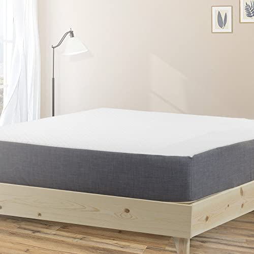 eLuxurySupply Platform Bed Frame - Made in The USA w/ 100% North American Pine | No Tool Assembly | Solid Wood Mattress Foundation w/ 7-Layer Pressed Pine Slats Included