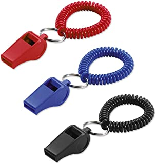 Lucky Line Wrist Coil with Whistle, 1 per Card, Color May Vary (42301)