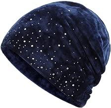 KFEK Ladies Headscarf Baotou Month Hats Autumn and Winter New Plush Headgear Solid Color Pile Cap