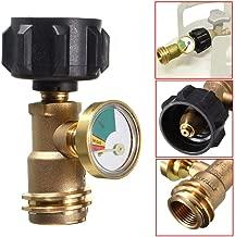 XKSIKjian's Travel Plug Adapter - Voltage Converter, Propane Gas Level Indicator Gauge BBQ Grill Tank Pressure Meter Brass International Chargers