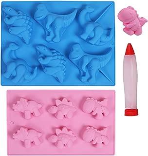 HomyPlaza Large dinosaur silicone mold Perfect for Dinosaur Gummies, Chocolates, Candy, Ice Cube Cake Decorations