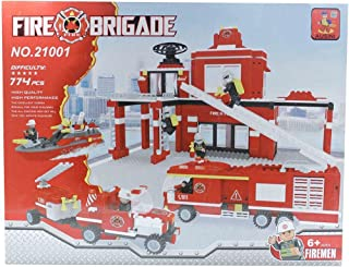 Ausini Fire Station Shaped Building Blocks - 774 Pieces