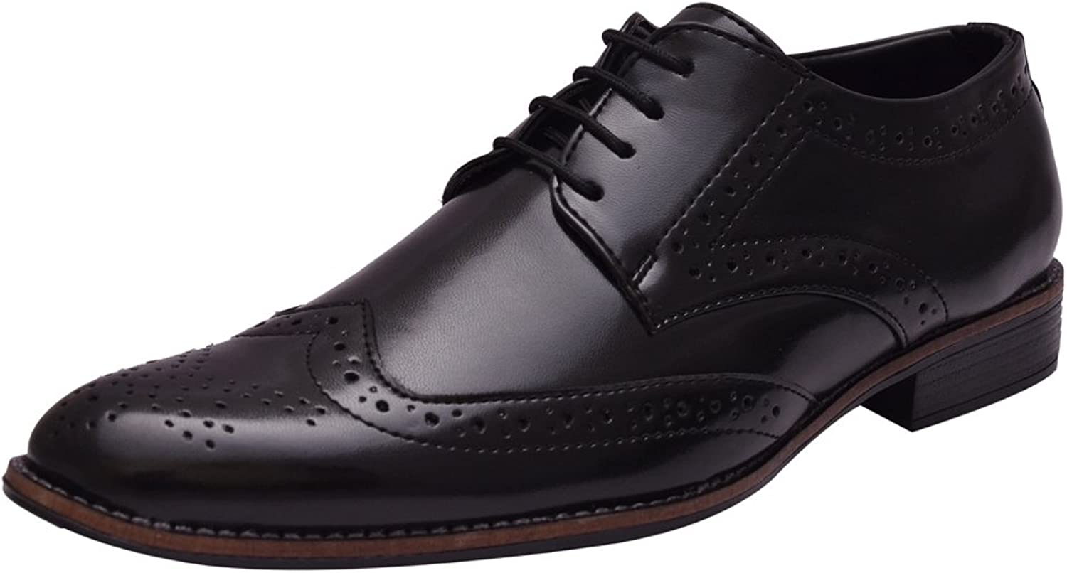 Sir Corbett Men's Synthetic Brogue shoes with Leather Lining