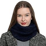 DonDon Écharpe en laine tube pour femme chaude et douce en tricot - Rose