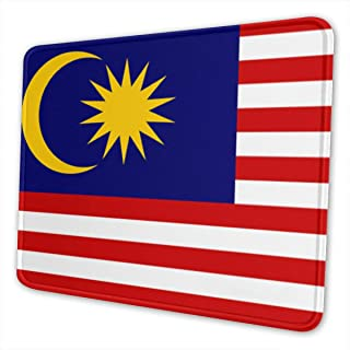 Malaysia Flag Mouse Pad Non-Slip Rubber Gaming Mouse Pad Rectangle Mouse Pads for Computers