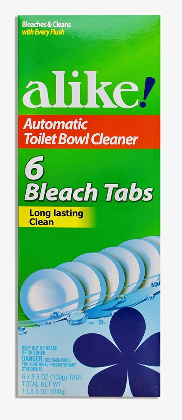 alike Automatic Toilet Bowl, Bleach Tabs, 3.5 Ounce, 6 Count
