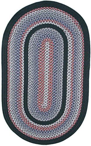 Thorndike Mills Pioneer Valley II Braided Rug, 10' x 14' Oval, Autumn Wheat w/DK Grn Solids