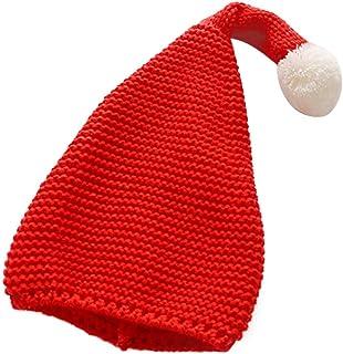 6f579f38a42 joyliveCY Gorro navideño de Lana para niños Dulce de Punto Bola Grande  Lindo Cálido Sombrero de