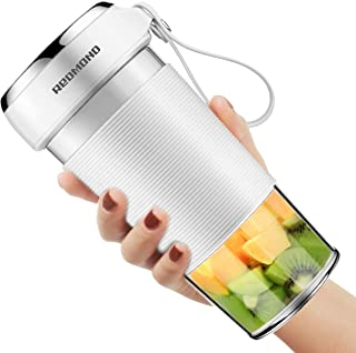 Portable Blender, REDMOND Mini Personal Blender, Shakes and Smoothies Maker, Small Juice Blender, 300ml/10oz USB Rechargeable BPA Free, Sport/Gym/Office/Study/Travel-White