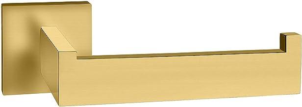 ECENCE Toiletpapierhouder - Hoekig design - van roestvrij staal - open wandsteun - De rollen glippen niet weg - WC-rollenh...