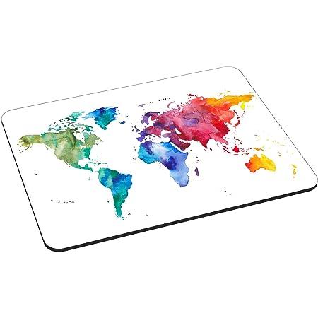 Pedea Gaming und Office - Tappetino per il mouse, 220 x 180 mm, con bordi cuciti e base antiscivolo, colore: Multicolore