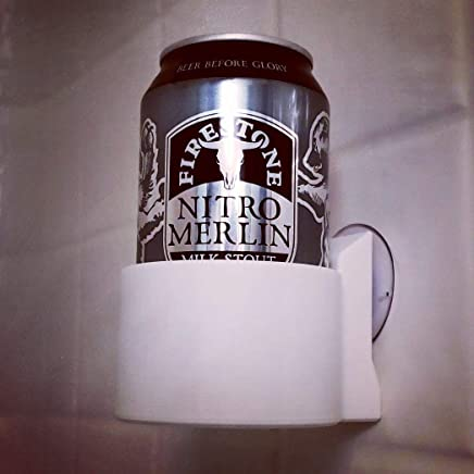 The ShowerBro! Suction Cup Beer Can Holder for your Shower!