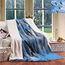 Sunnyhome Geese Lamb Velvet Blanket Flock of Canada Birds Spring Personalized Baby Blanket Throw Size