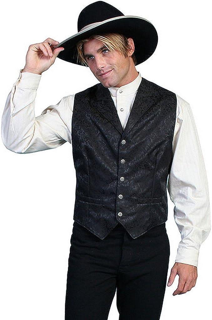 Scully Exquisite Large Mens Vest - Black