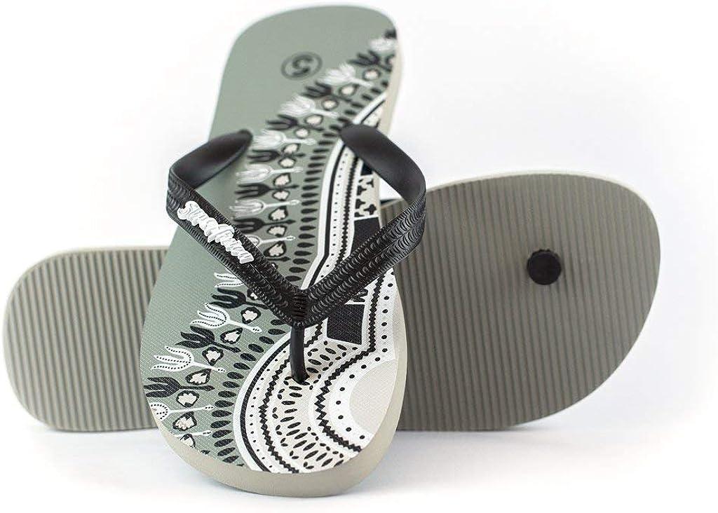 SlipsAfrica Mens Casual Flip-Flops | Comfortable Beach Slippers (Black)