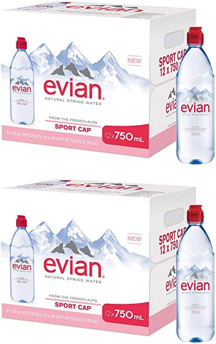 evian TNKYBKUF Natural Spring Water 750 ml 25.4 oz. Individual Max Rare 83% OFF