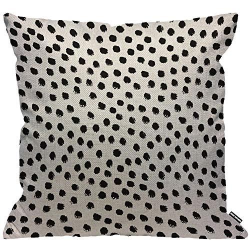 HGOD DESIGNS Polka Dots Cushion Cover,Brush Strokes Dots Throw Pillow Case Home Decorative for Men/Women Living Room Bedroom Sofa Chair 18X18 Inch Pillowcase 45X45cm